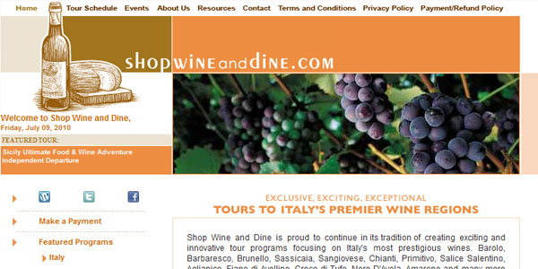 Shop, Wine, and Dine